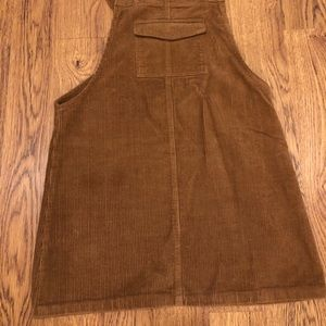 MISSGUIDED cord pinafore dress size 4